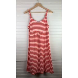 Old Navy Maternity Pink Striped Fit & Flare Dress